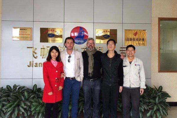 New zealand customers visited plant 2015